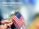 Flags/International: USA Flag PowerPoint Template #02329