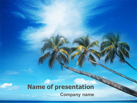 Nature & Environment: Palm Tree PowerPoint Template #02331