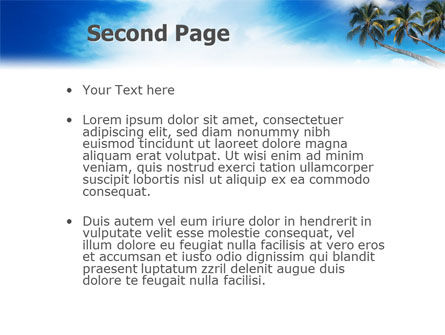 Palm Tree PowerPoint Template, Slide 2, 02331, Nature & Environment — PoweredTemplate.com