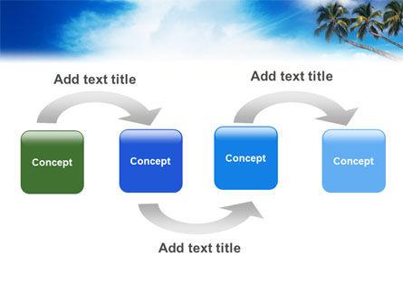 Palm Tree PowerPoint Template, Slide 4, 02331, Nature & Environment — PoweredTemplate.com
