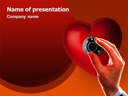 Key To Heart PowerPoint Template