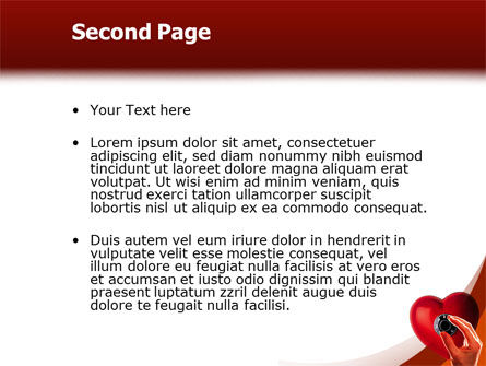 Key To Heart PowerPoint Template Slide 2