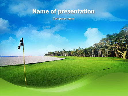 Golf Club PowerPoint Template, 02334, Sports — PoweredTemplate.com