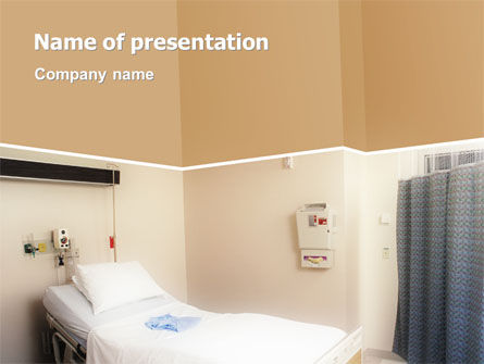 Medical: Plantilla de PowerPoint - sala de hospital #02337