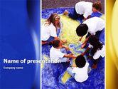Children and World PowerPoint Template#1