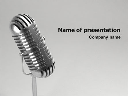 3D: Audio Recording PowerPoint Template #02343