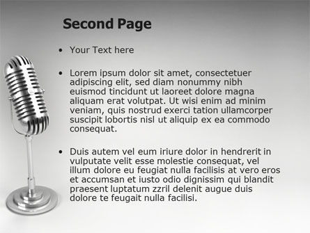 Audio Recording PowerPoint Template Slide 2