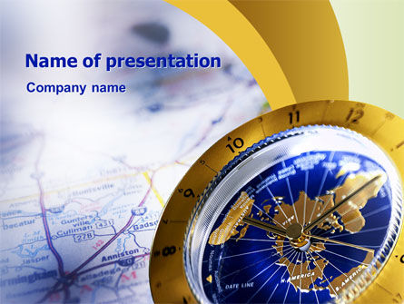 Education & Training: Define Travel Direction PowerPoint Template #02344