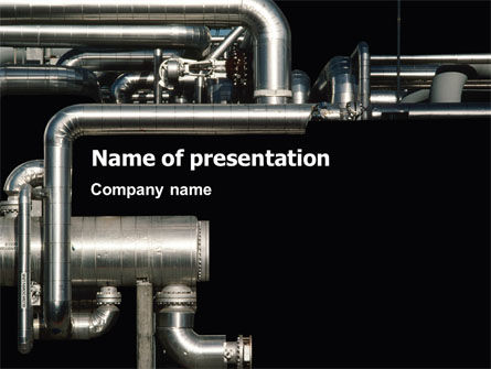 Utilities/Industrial: Pipes PowerPoint Template #02345