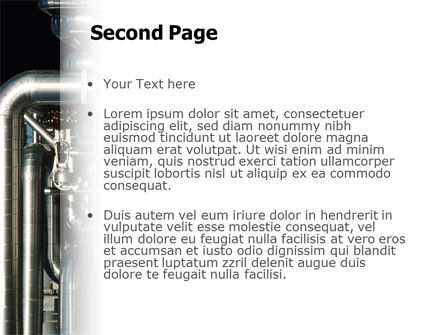 Pipes PowerPoint Template, Slide 2, 02345, Utilities/Industrial — PoweredTemplate.com