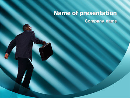 Business: Career Climbing PowerPoint Template #02346