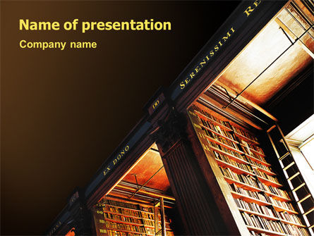 Education & Training: Book Shelf PowerPoint Template #02347