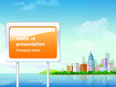 Business: City At The Sea PowerPoint Template #02348