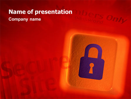 Site Security PowerPoint Template, 02352, Technology and Science — PoweredTemplate.com