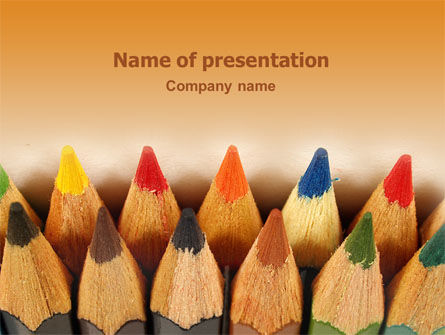 Business Concepts: Color Pencil PowerPoint Template #02353