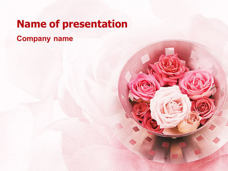 Roses PowerPoint Template, 02354, Holiday/Special Occasion — PoweredTemplate.com