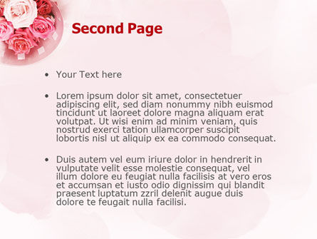 Roses PowerPoint Template, Slide 2, 02354, Holiday/Special Occasion — PoweredTemplate.com