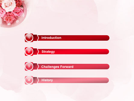 Roses PowerPoint Template, Slide 3, 02354, Holiday/Special Occasion — PoweredTemplate.com