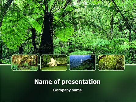 Tropical Forest PowerPoint Template, 02355, Nature & Environment — PoweredTemplate.com