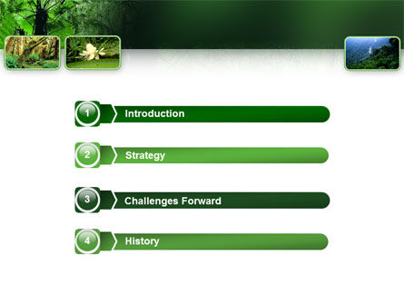 Tropical Forest PowerPoint Template, Slide 3, 02355, Nature & Environment — PoweredTemplate.com
