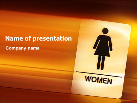 Business Concepts: Icon Women PowerPoint Template #02357
