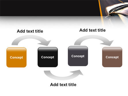 Car On Highway PowerPoint Template, Slide 4, 02358, Cars and Transportation — PoweredTemplate.com
