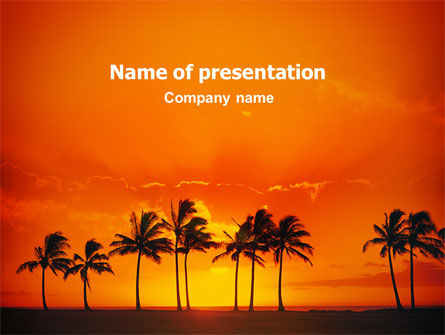 Seaside PowerPoint Template, 02360, Nature & Environment — PoweredTemplate.com