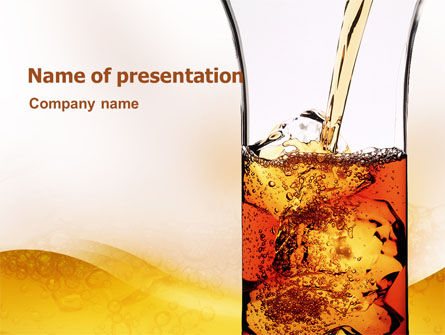 Ice Tea PowerPoint Template, 02363, Food & Beverage — PoweredTemplate.com