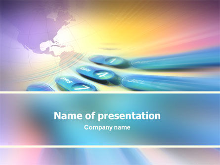 Telecommunication: International Communication PowerPoint Template #02372