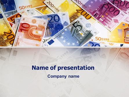 Financial/Accounting: Templat PowerPoint Uang Kertas Euro #02374