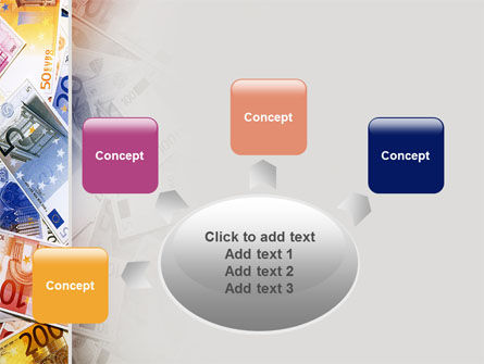 Euro Banknotes PowerPoint Template Slide 7
