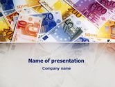 Financial/Accounting: Euro Banknotes PowerPoint Template #02374
