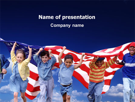 Children Of The USA PowerPoint Template