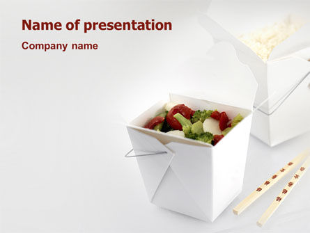 Food & Beverage: Templat PowerPoint Makanan Cina #02378