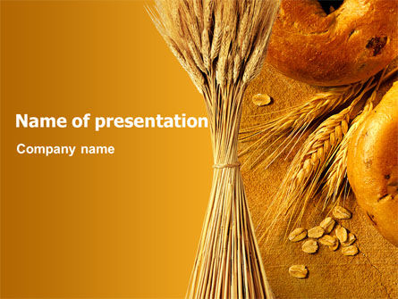 Agriculture: Baking PowerPoint Template #02379