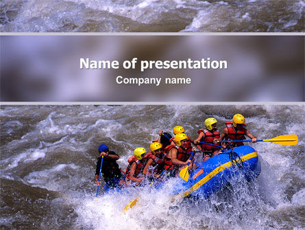 Sports: Rafting PowerPoint Vorlage #02380