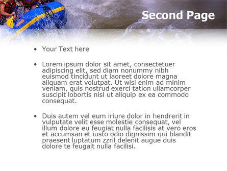 Rafting PowerPoint Template, Slide 2, 02380, Sports — PoweredTemplate.com