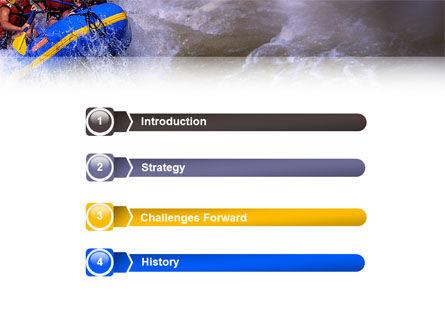 Rafting PowerPoint Template, Slide 3, 02380, Sports — PoweredTemplate.com
