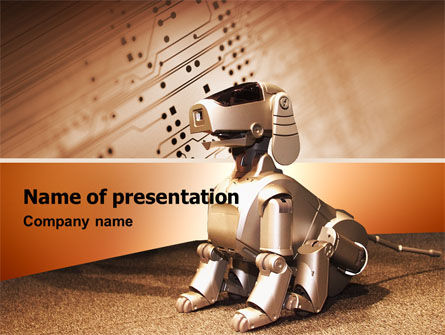 Robot Dog PowerPoint Template, 02381, Technology and Science — PoweredTemplate.com