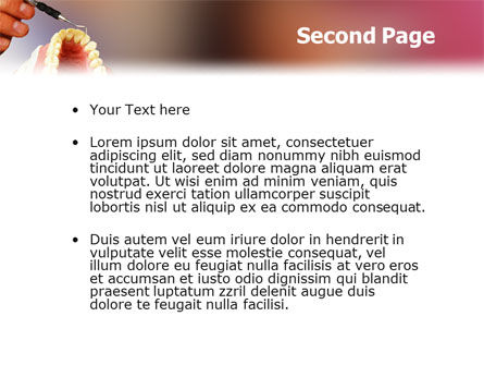 Denture PowerPoint Template Slide 2