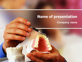 Medical: Denture PowerPoint Template #02385