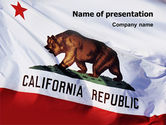 Flags/International: California State Flag PowerPoint Template #02387