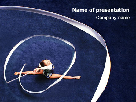 Rhythmic Gymnastics PowerPoint Template, 02388, Sports — PoweredTemplate.com