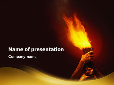 Olympic Flame PowerPoint Template