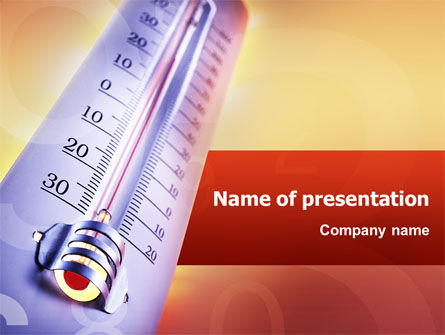 Thermometer PowerPoint Template, 02390, Utilities/Industrial — PoweredTemplate.com