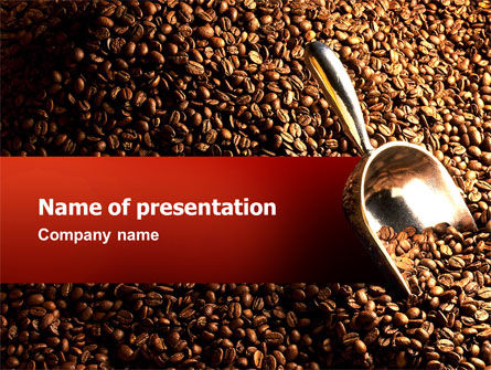 Careers/Industry: Scattering of Coffee PowerPoint Template #02392