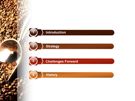 Scattering of Coffee PowerPoint Template Slide 3