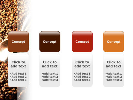 Scattering of Coffee PowerPoint Template Slide 5