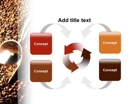 Scattering of Coffee PowerPoint Template Slide 6