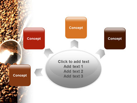 Scattering of Coffee PowerPoint Template Slide 7